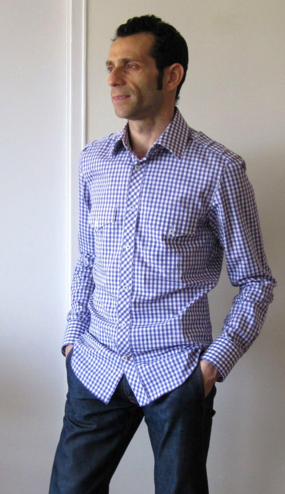 Mens gingham shirt for Mens gingham dress shirt