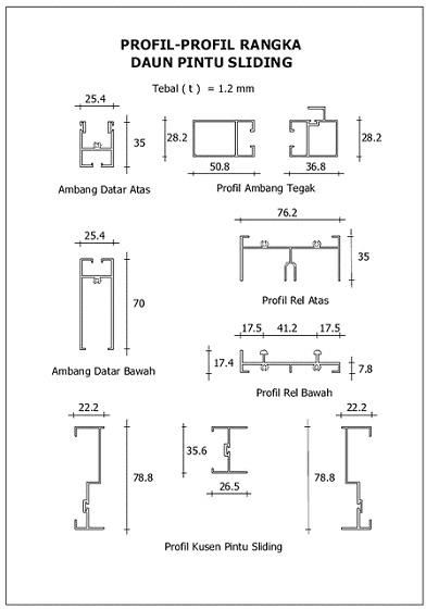 Teknik Bangunan Profil Kusen Aluminum