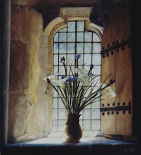 Lilies in the chapel window