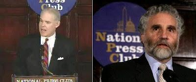 Robert Bork, Jr. {left), spokesman for the plaintiffs & Steven Henkelman