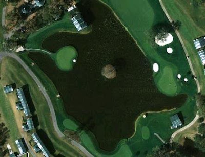 The 17th hole at Sawgrass