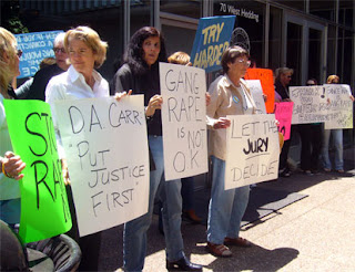 Demonstrators protest in front of the Santa Clara County District Attorney's office May 31st
