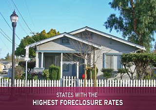 states with the highest foreclosure rates