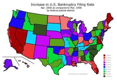 Bankruptcy Filing Rates by District, Apr. 2006 to Mar. 2008