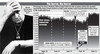 Financial Armageddon was close on Thursday, Sept. 18, 2008