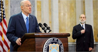 Treasury Secretary Hank Paulson announces $250 Billion Bank Bailout