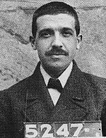 mugshot of Charles Ponzi