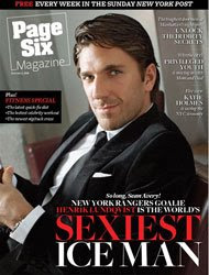 NY Post, Page 6 Magazine, Henrik Lundqvist: The World's Sexiest Ice Man