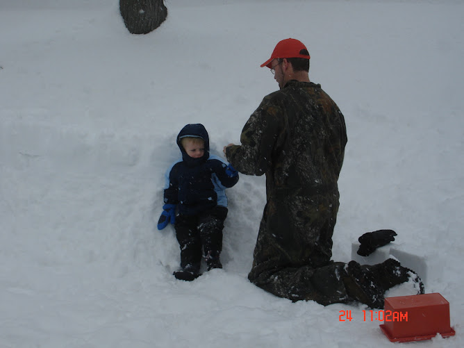 Ben and Kaden in the snow