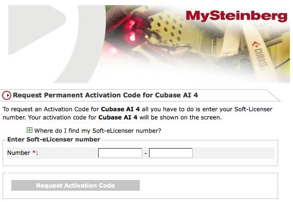 cubase activation code