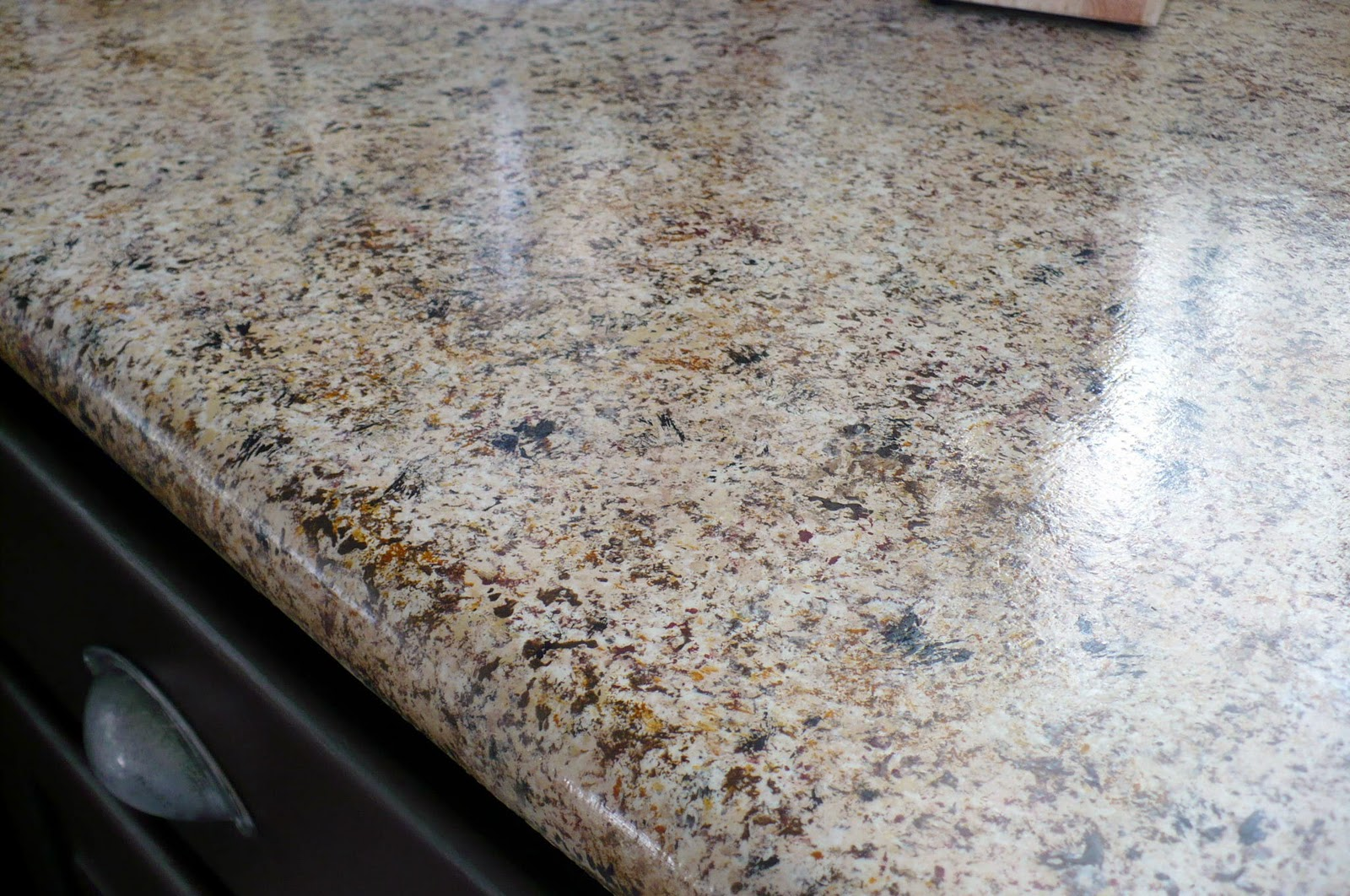 Painted countertops to look like granite - Pretty Lil Posies 250 Kitchen Makeover With 20 Granite Countertops Faux Real