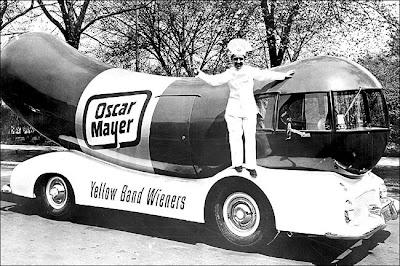 Dog Day Afternoon Three Wienermobiles on oscar mayer luncheon meat