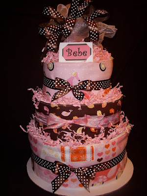 Boutique diaper cakes