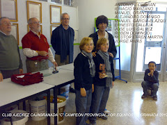 """CLUB AJEDREZ CAJAGRANADA """"C"""". CAMPEÓN PROVINCIAL DE GRANADA POR EQUIPOS 2010"""