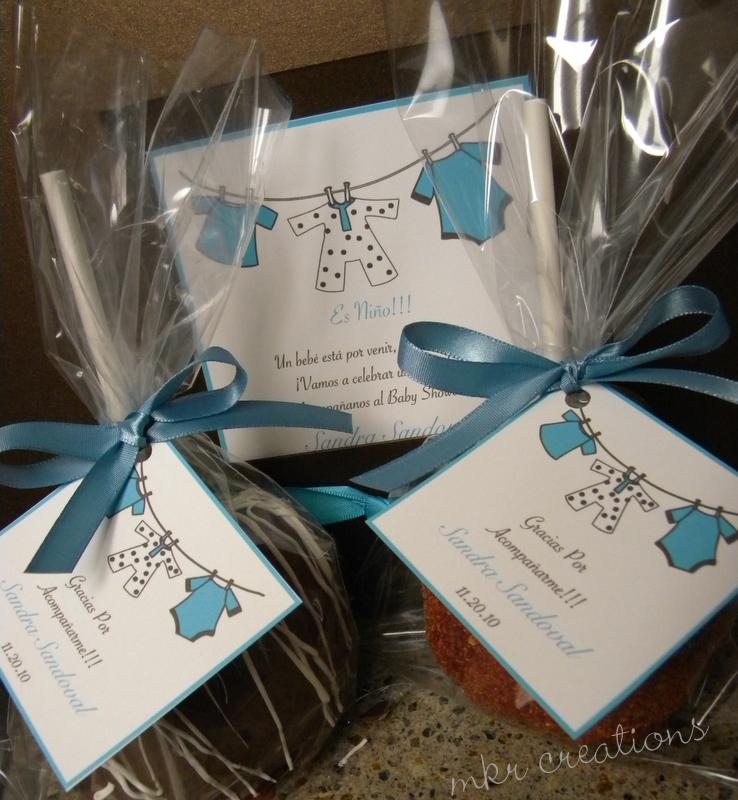 created invitations chocolate caramel apples and tamarind apples
