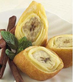 Bahan-bahan : 6 lbr roti tawar putih, buang tepinya