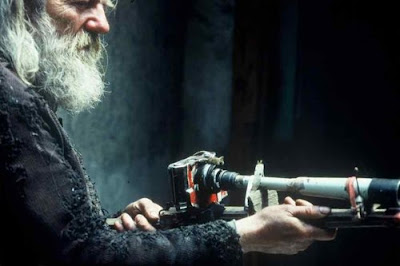 Miroslav Tichy with handmade camera
