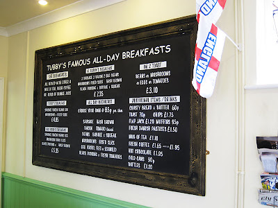 Menu board. Photograph by Tim Irving