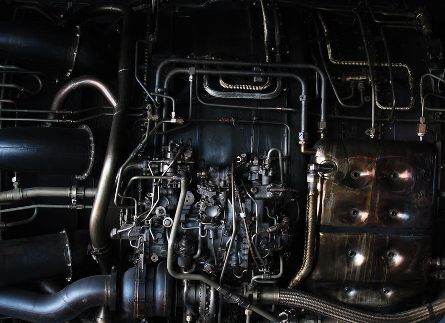 Pratt and Whitney Turbine Engine. Photograph by Tim Irving