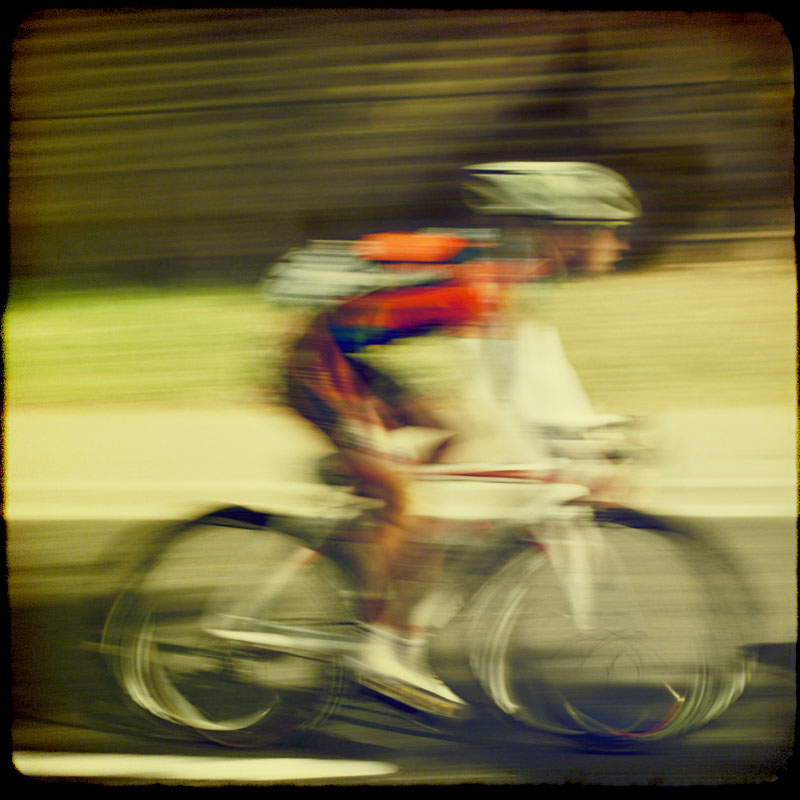 Cyclist. Photograph by Tim Irving