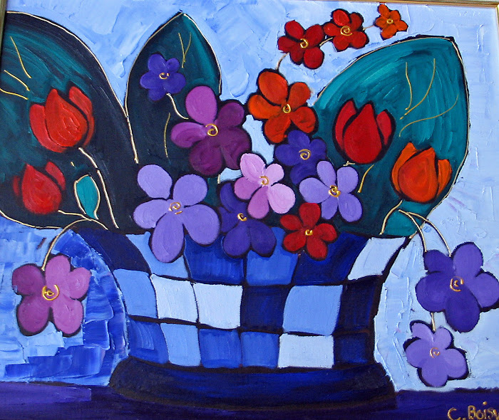 Flamboyantes tulipes 20 x 24_Atelier Normand Boisvert
