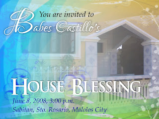 Blessing Invites with perfect invitation template