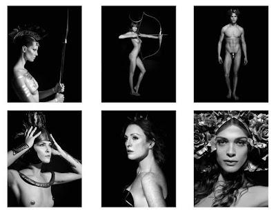 6 Escenas típicas de la mitología griega en el Calendario Pirelli 2011