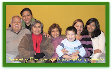Con mi esposa, mis dos hijas, mis 2 nietas y 1 bisnieto