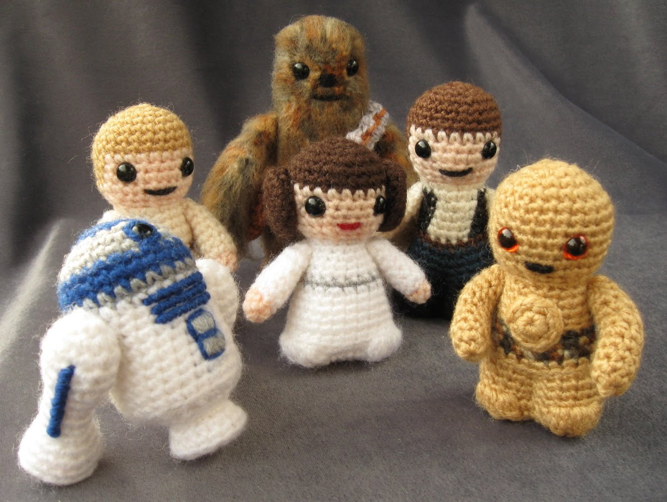 Free Crochet Pattern Small Doll : Entre Hilos y Puntadas: Amigurumi star wars & Lord of the ring