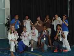 My daughter's TKD (taekwondo)team
