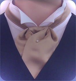 how to put on a cravat