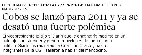 Clarín - Se desató la polémica