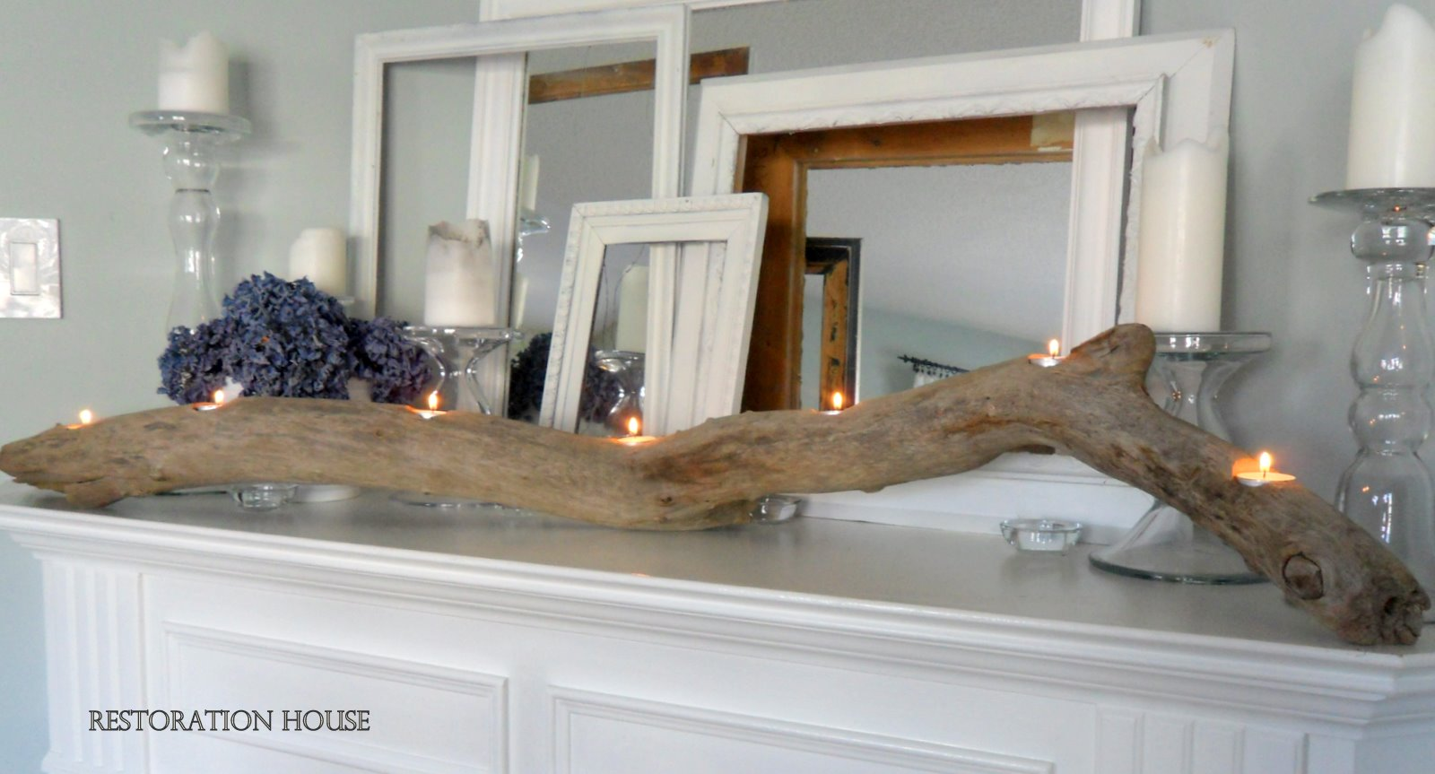 Wooden candle holders crafts - Driftwood Candle Holder Tutorial