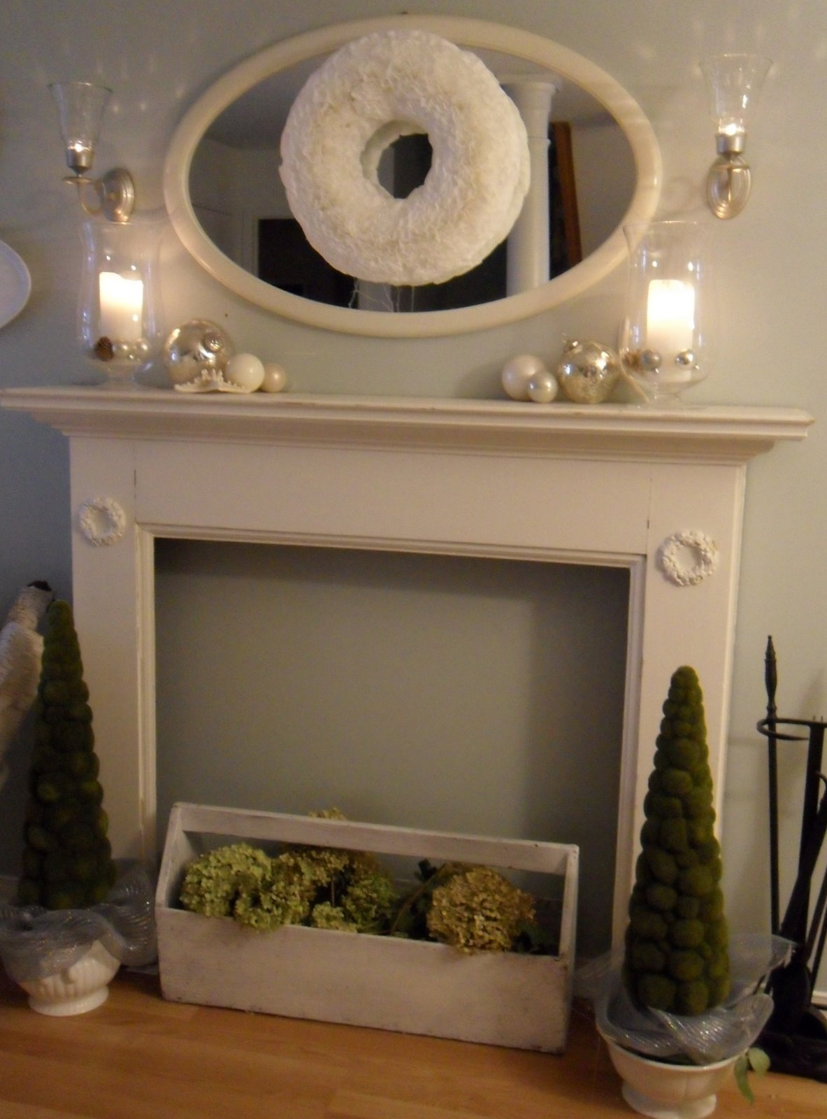 Restoration House Christmas Coffee filter Wreath