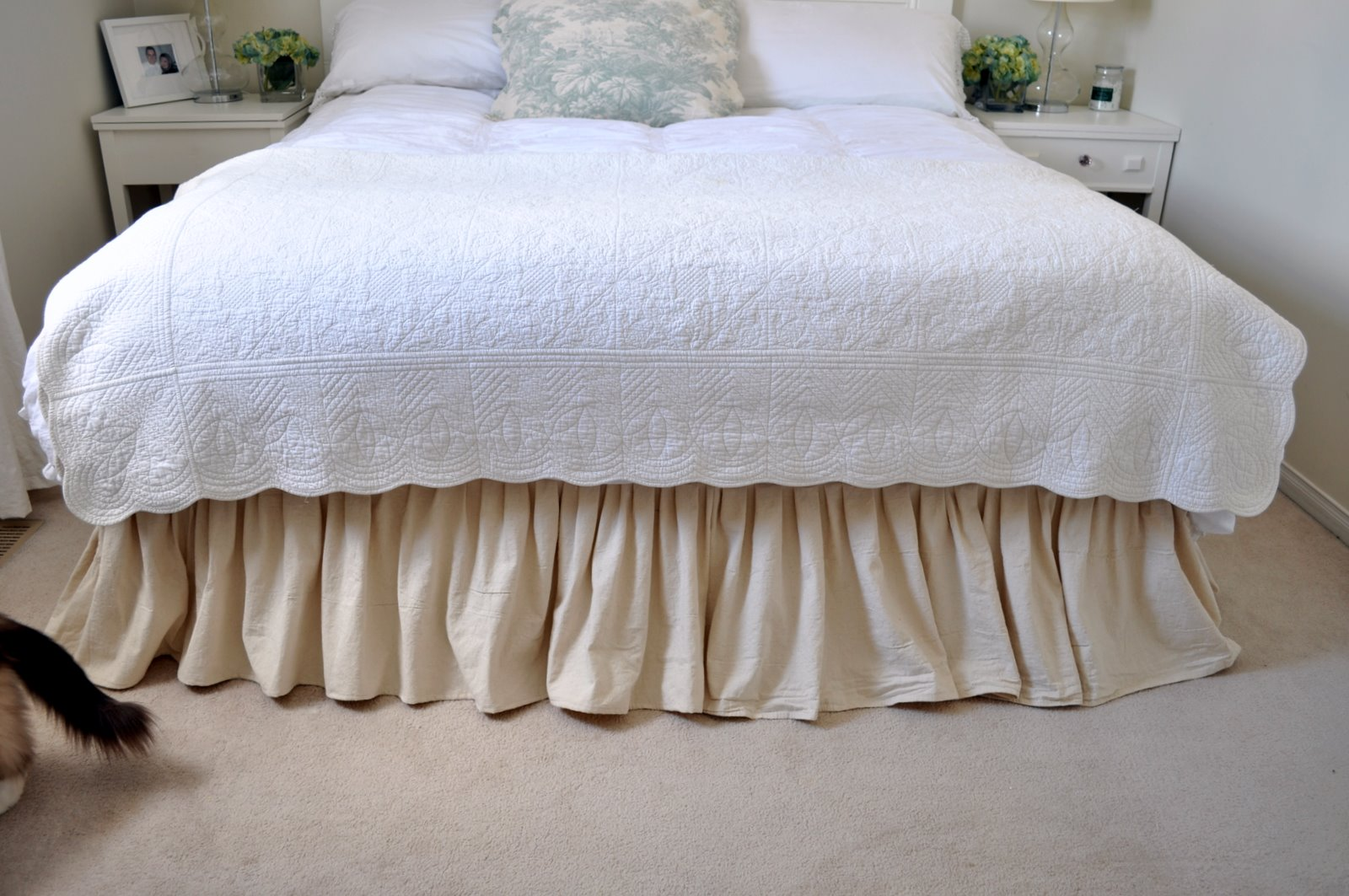 Drop Cloth Bed Skirt.Mini Makeover Part 2 Dropcloth Bedskirt Kim Power Style