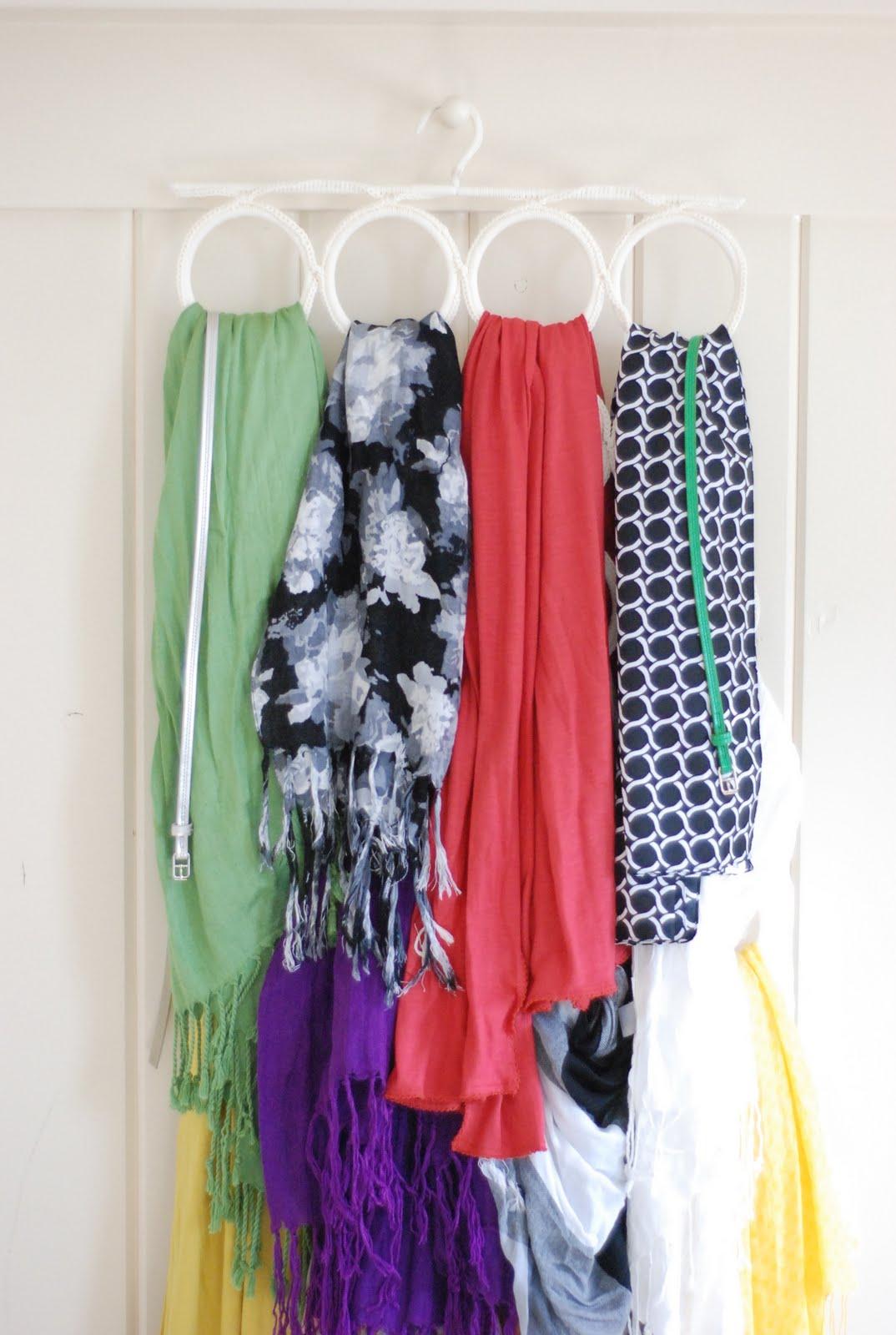 A pina colada organizer for scarves belts for Scarves hanger ikea
