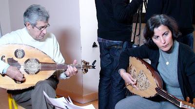 Beihdja Rahal et Nadji Hamma, lors du tournage d'une séquence du film ...