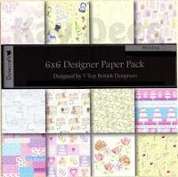 Dovecraft designer paper - Retro Floral