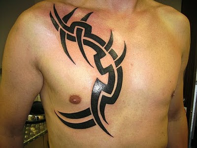 tribal tattoo designs for men. Tribal Chest Tattoo Design For