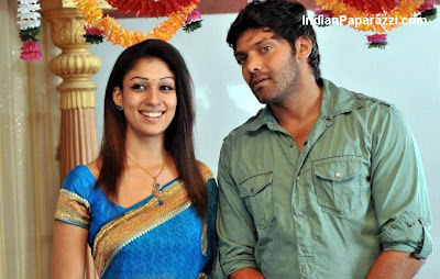 Nayantara in Blue Saree | Nayantara Saree Stills from Boss Engira Baskaran