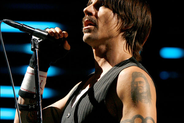 Celebrity Tattoo Ideas for Men | Anthony Kiedis Portrait Tattoo