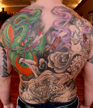 japanese dragon tattoos. Backpiece Japanese Dragon