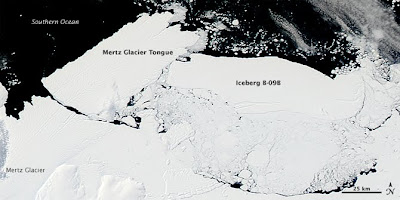 Antarctic Iceberg Collision