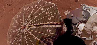 This view of one of the Mars Phoenix Lander's solar panels is a composite of multiple exposures taken by the spacecraft's Surface Stereo Imager camera. Image credit: NASA/JPL-Caltech/University Arizona/Texas A&M University