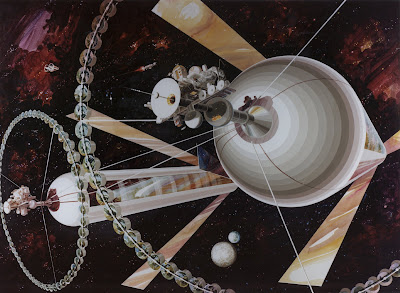 Space and Astronomical Art Journal: NASA Space Colony Art