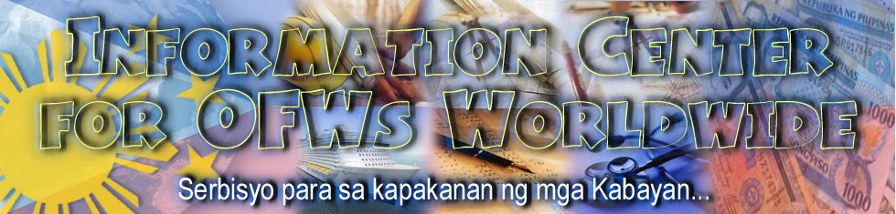 Information Center For OFWs Worldwide..