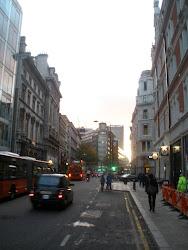 Bloomsbury Way at sunset