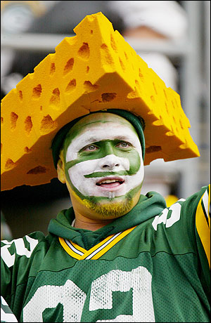 wear a communitys cheeseheads Wedge of his cheesehead hat grandson has