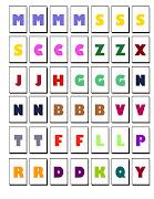 Estas letras estan listas para imprimir, enmicar y recortar, . letras consonantes