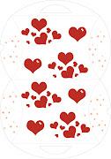 esta caja con corazones no podria ser mas tierna, y esta lista para imprimir caja corazones